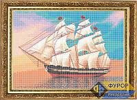 Схема для вышивки бисером - Корабль в море, Арт. ПБп3-17