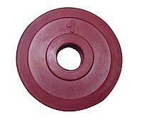 Диск стальной обрезиненный 1 кг