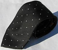 Черный галстук из 100% микрофибры LanFranco - 107
