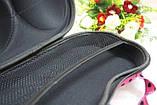 Кейс (чехол) для бюстгальтеров Синий в белый горох с сеточкой, фото 5