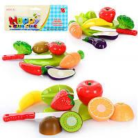 Овощи и фрукты 666-17/19 2 вида, делятся пополам, с досточкой, ножом, в пакете