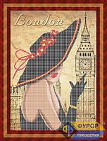Схема для вышивки бисером - Модница из Лондона, Арт. ЛБч3-11