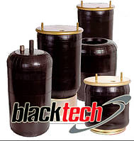 Пневморессора балонного типа с плитой бублик 2C 21-210 P22, BLACKTECH, 2C21210P22