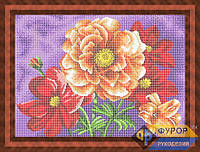 Схема для полной вышивки бисером - Яркий букет цветов, Арт. НБп3-63