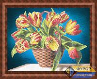 Схема для вышивки бисером - Цветы в корзинке, Арт. НБч3-62-2