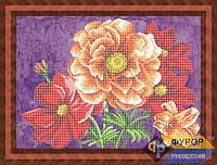 Схема для частичной вышивки бисером - Яркий букет цветов, Арт. НБч3-64