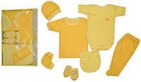 Подарочный набор для новорожденных 7 предметов. Размер 0-3 мес. Детская одежда оптом Турция.