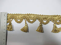 Бахрома шторна з китицями 6 см., золотисто-бежева F05
