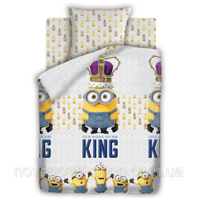 Комплект постельного белья Миньоны Кинг подростковый