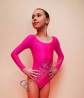 Детский купальник для танцев розовый