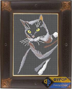 Схема для вишивки бісером картини Чорний кіт (ЖБп4-002)