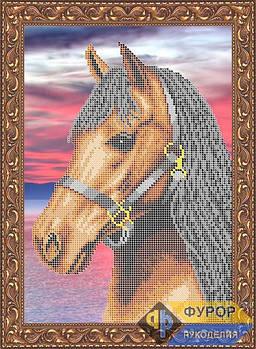 Схема для вишивки бісером картини Кінь на заході (ЖБч4-004)