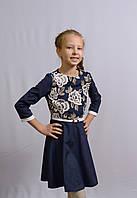 Красивое платье для девочек 134-152 роста Замш