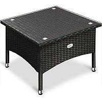 Столик квадратний 50х50 з штучного ротангу