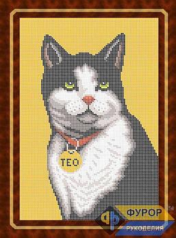 Схема для вишивки бісером картини Кот з медальйоном (ЖБп4-007-1)