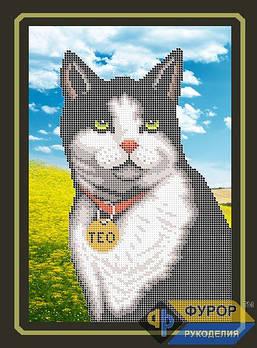 Схема для вишивки бісером картини Кіт (ЖБч4-008)