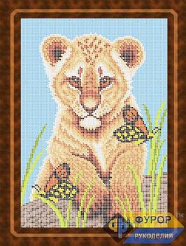 Схема для вишивки бісером картини Тигреня і метелики (ЖБп4-010)