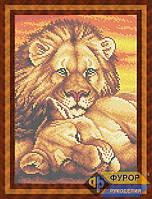 Схема для вышивки бисером - Пара львов, Арт. ЖБп4-16