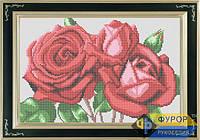 Схема для вышивки бисером - Букет алых роз, Арт. НБп4-6-1