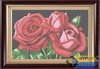 Схема для вышивки бисером - Алые розы, Арт. НБп4-6-2