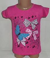 """Футболка для девочек """"БАНТ"""" 3,4,5,6,7 лет.  Детская одежда оптом Турция."""