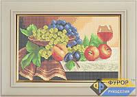 Схема для вышивки бисером - Натюрморт из фруктов и бокала вина, Арт. НБп4-16