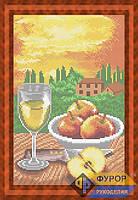 Схема для полной вышивки бисером - Натюрморт из бокала вина и яблок, Арт. НБп4-28