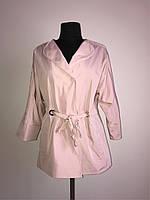 Элегантная куртка-пиджак с четвертным рукавом