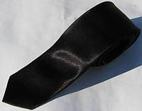 Черный галстук узкий из 100% полиэстера LanFranco - 24.