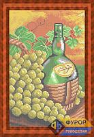 Схема для полной вышивки бисером - Бутылка вина и виноград, Арт. НБп4-29