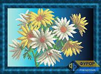 Схема для частичной вышивки бисером - Букет желто белых цветов, Арт. НБч4-31