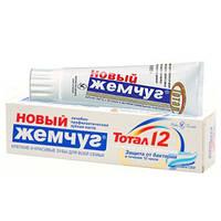 Зубная паста «Новый Жемчуг Тотал 12 + нежное отбеливание» 100 мл