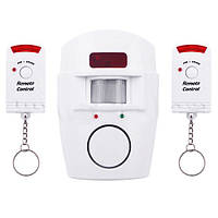 Сигнализация для дома и дачи беспроводная 105 YL, громкость звука 110 дБ, ИК датчики, 2 пульта ДУ