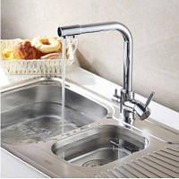Смеситель (кран с питьевой водой) на кухню для мойки раковины или умывальника однорычажный