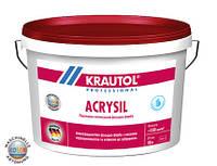 Фасадная краска матовая водно-дисперсионная для наружный работ Acrysil усиленная синоксаном - 10 л.