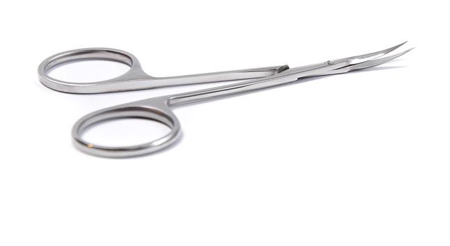 Ножницы для заусениц Olton 100 мм + чехол (кожа)