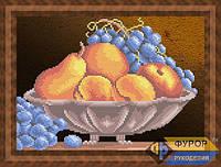 Схема для вышивки бисером - Виноград и фрукты в вазе, Арт. НБч4-49