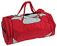 Сумка для спортзала Wallaby 216-1 (боченок), 20 л,  красная с серым, фото 4
