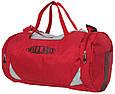 Сумка для спортзала Wallaby 216-1 (боченок), 20 л,  красная с серым, фото 2