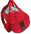 Сумка для спортзала Wallaby 216-1 (боченок), 20 л,  красная с серым, фото 6