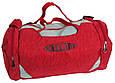 Сумка для спортзала Wallaby 216-1 (боченок), 20 л,  красная с серым, фото 3