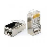 Конектор RJ45 8p8c FTP, 100шт. в пакете (экранные)