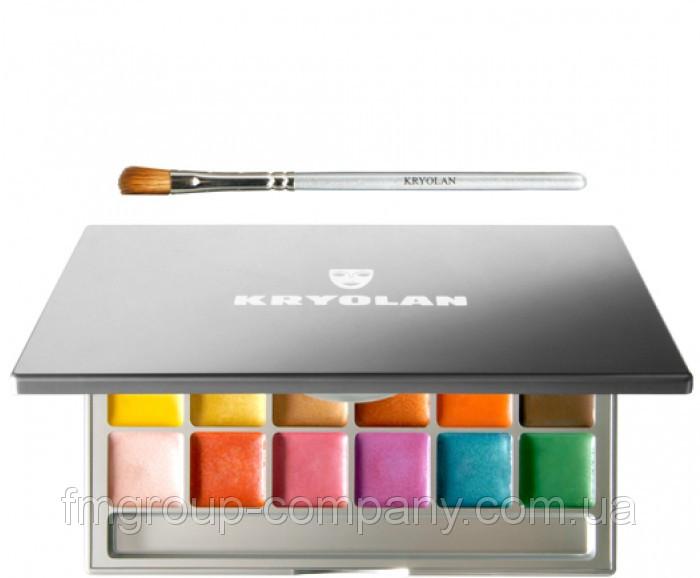 Кремообразные мерцающие тени - румяна Kryolan Shimmering Vision в палитре 18 цветов