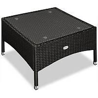 Столик квадратний 58х58 з штучного ротангу