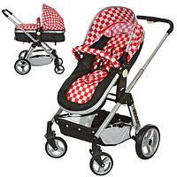 Детская коляска 6811-3 универсальная (красно-черная)