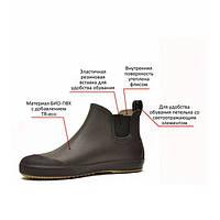 Новая модель мужских ботинок «NordMan Beat» (ботильоны)NordMan Beat Пс-30(размер 46)темно коричневый, стильные