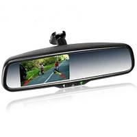 """Штатное зеркало со встроенным видеорегистратором и цветным монитором 4.3 """"Prime-X"""" 043D"""