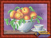 Схема для вышивки бисером - Фрукты в вазе на столе, Арт. НБч4-57