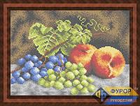 Схема для вышивки бисером - Виноград и персики на столе, Арт. НБп4-60