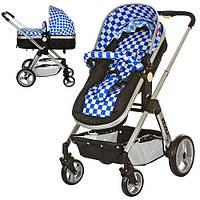 Детская коляска 6811-4 универсальная (синяя)